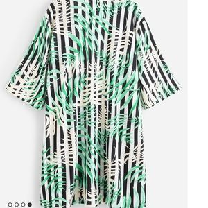 Swim - Tropical print kimono swimwear coverup